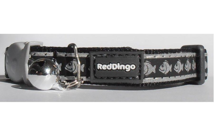 Reflective Noir - Red DINGO - Collier pour chat