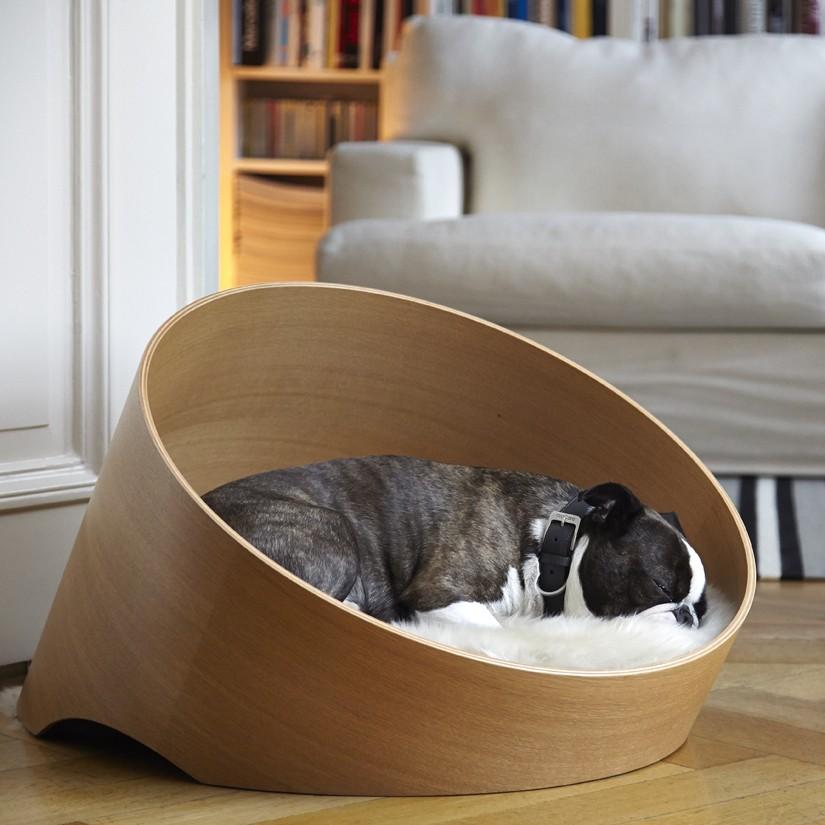 Canapé luxe pour chien - COVO Chêne Clair