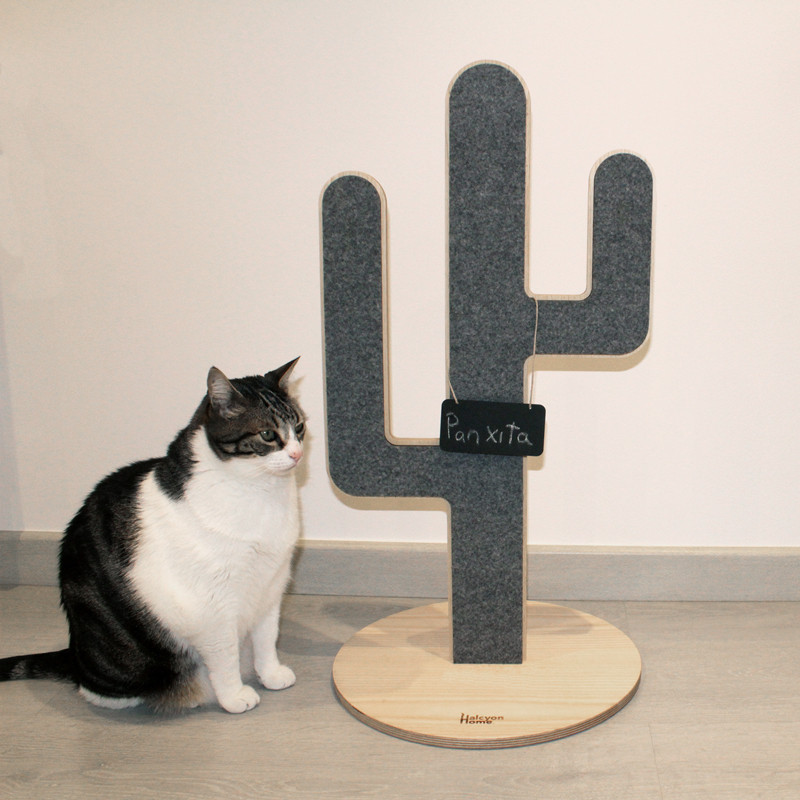 Griffoir design pour chat en bois - CACTUS
