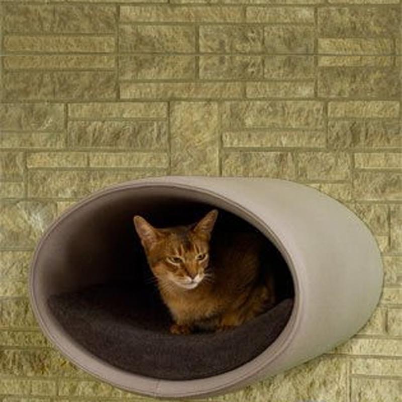 Couchage Lit mural pour chat - RONDO WALL FEUTRE