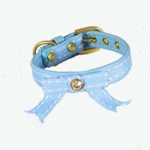 Collier pour chiot – BIJOU Bleu Tendre