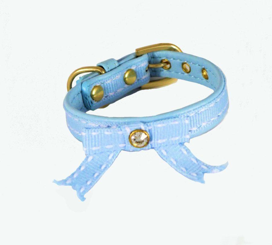Collier pour chiot - BIJOU Bleu Tendre