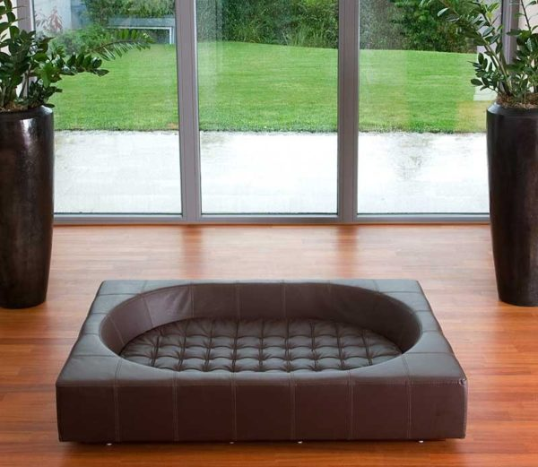 Couchage grand chien XXL - CUBE Cuir