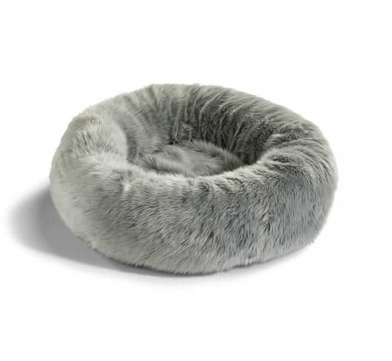 Panier nid pour chat en fourrure - LANA Brun Taupe