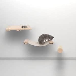 Arbre à chat mural en bois – KAAT1