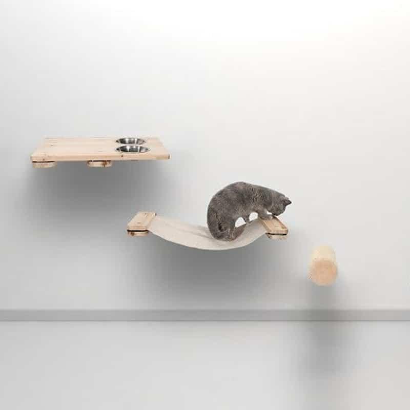 Arbre à chat mural en bois - KAAT1