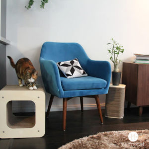 Griffoir design pour chat écoresponsable – CUBE