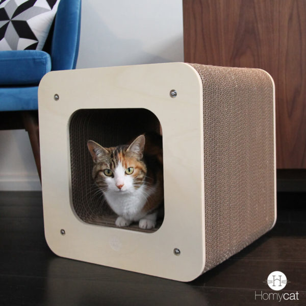 Griffoir design pour chat écoresponsable - CUBE