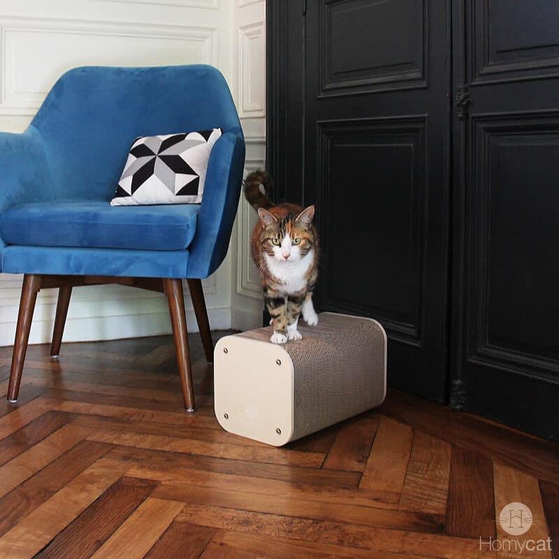 Petit Griffoir en carton pour chat - TOUR