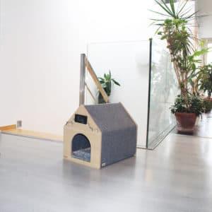 Niche design en bois pour chat – APAWTEMENT