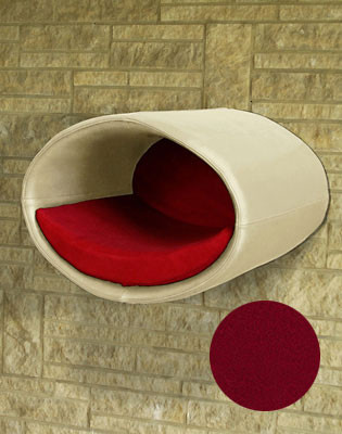 Couchage Lit mural pour chat - RONDO WALL CUIR