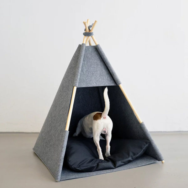 Tipi pour chien ou chat en feutre - TEEPEE