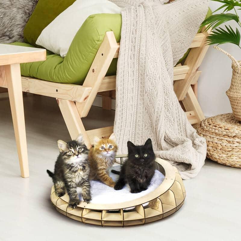 Panier design en bois pour chat - OHANA
