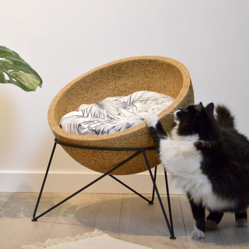 Meuble lit pour chat - COVO Chêne Clair