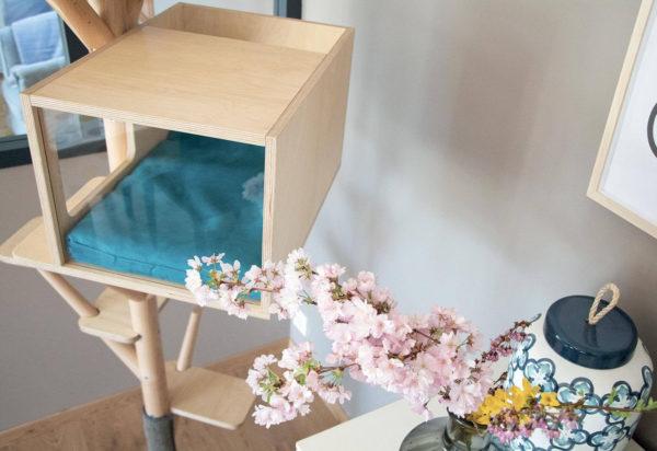 Arbre à chat en bois design - SCANDINAVE