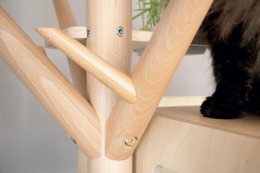 Arbre à chat en bois design - SCANDINAVE
