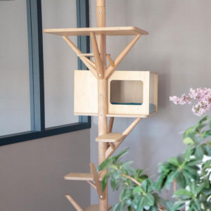 Arbre à chat en bois design – SCANDINAVE