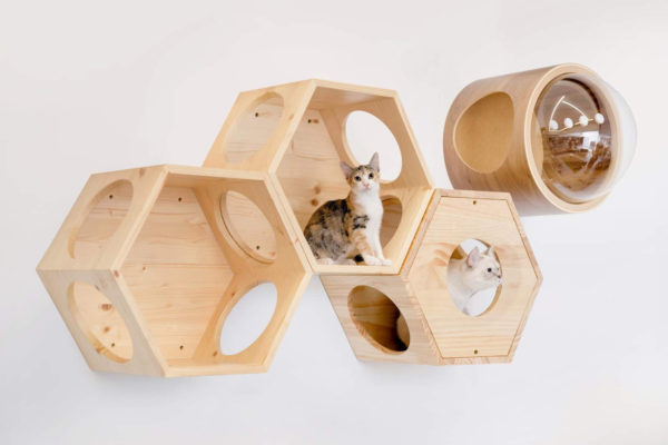 Arbre à chat mural modulable - COMBO