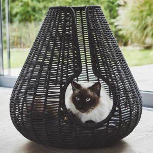 Panier pour chat design en osier – PERLA