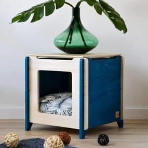 Couchage design en bois pour chat et petits chiens – CUB