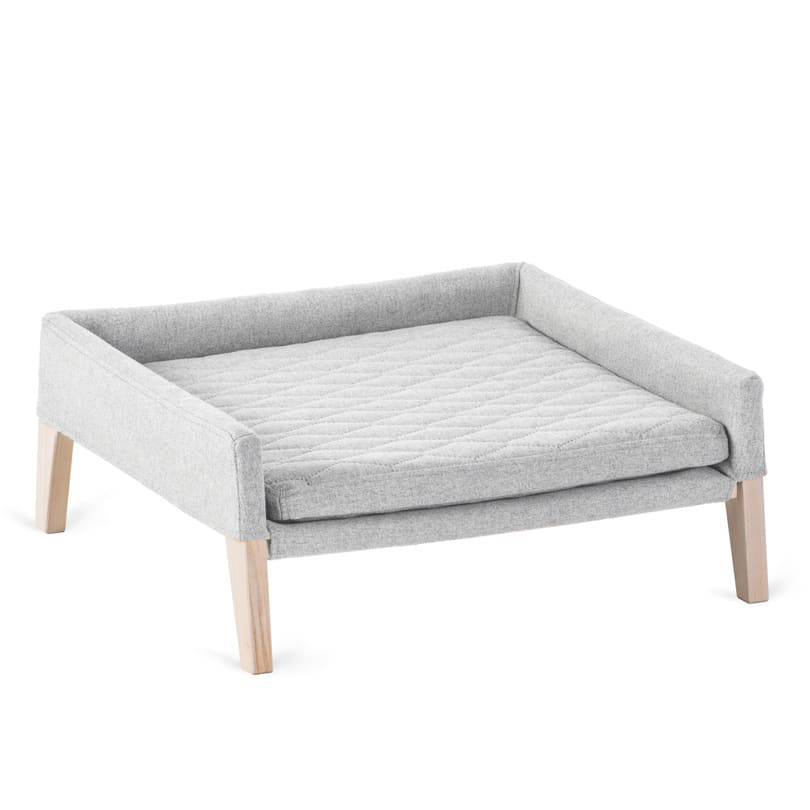couchage lulu chat gris clair