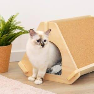 Niche design en bois pour chat – TIPPAW