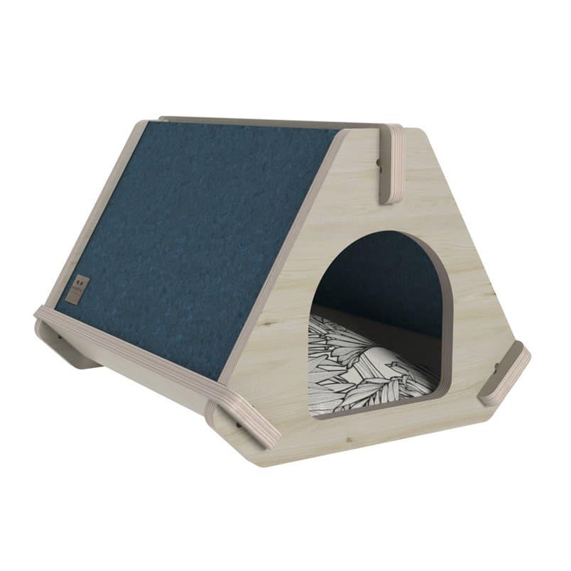 niche bleu pour chat design tippaw