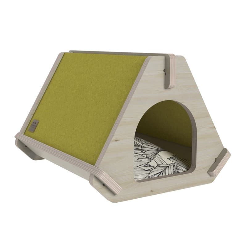 niche pour chat design tippaw vert