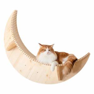 Arbre à chat mural en bois design – LUNA