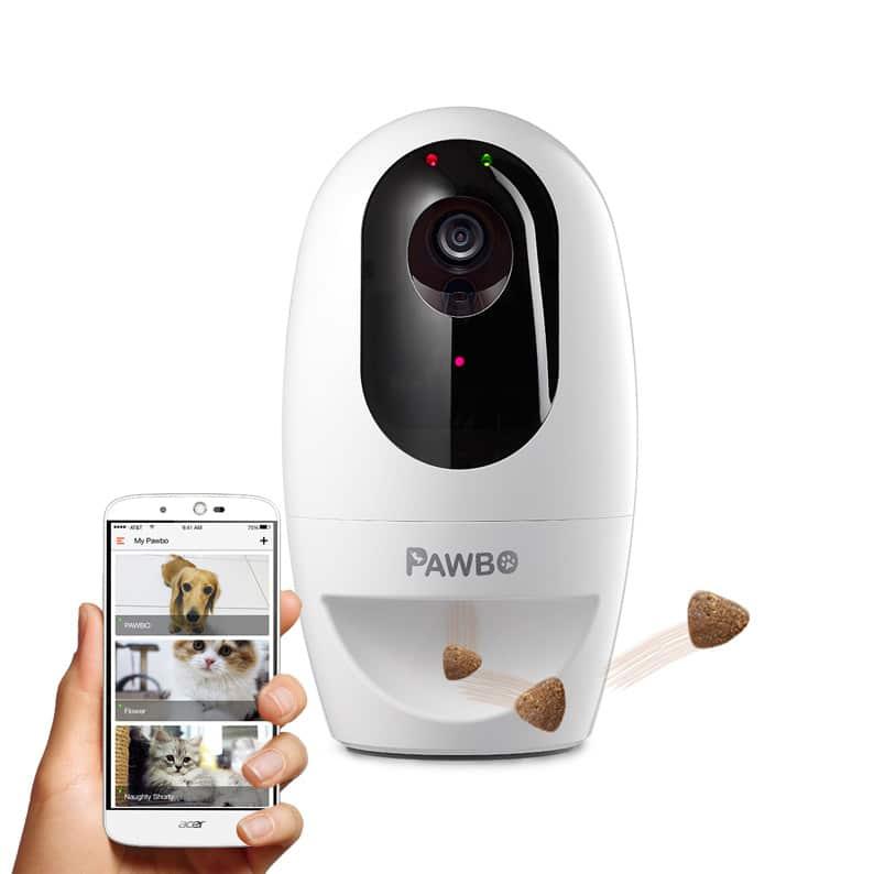pqwbo+ camera numerique laser friandise chien chat