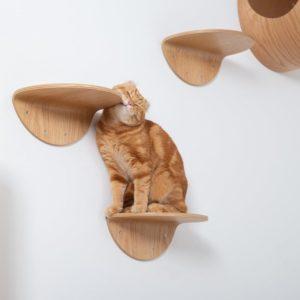Etagère murale en bois pour chat (x2) – ROUNDLACK