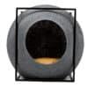 cube meyou panier design pour chat gris foncé