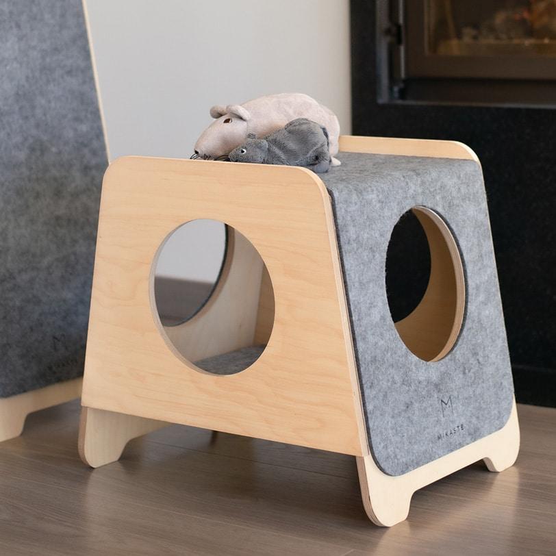 couchage design pour chat griffoir mikaste
