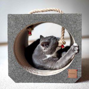 Griffoir tunnel fait-mains pour chat – TITO DARK GREY