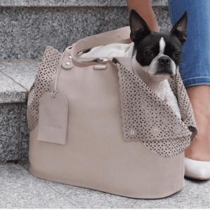 Sac de transport pour chien élégant – ELVA – Beige
